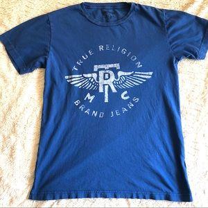 Blue True Religion Tee Shirt Mens Size Small
